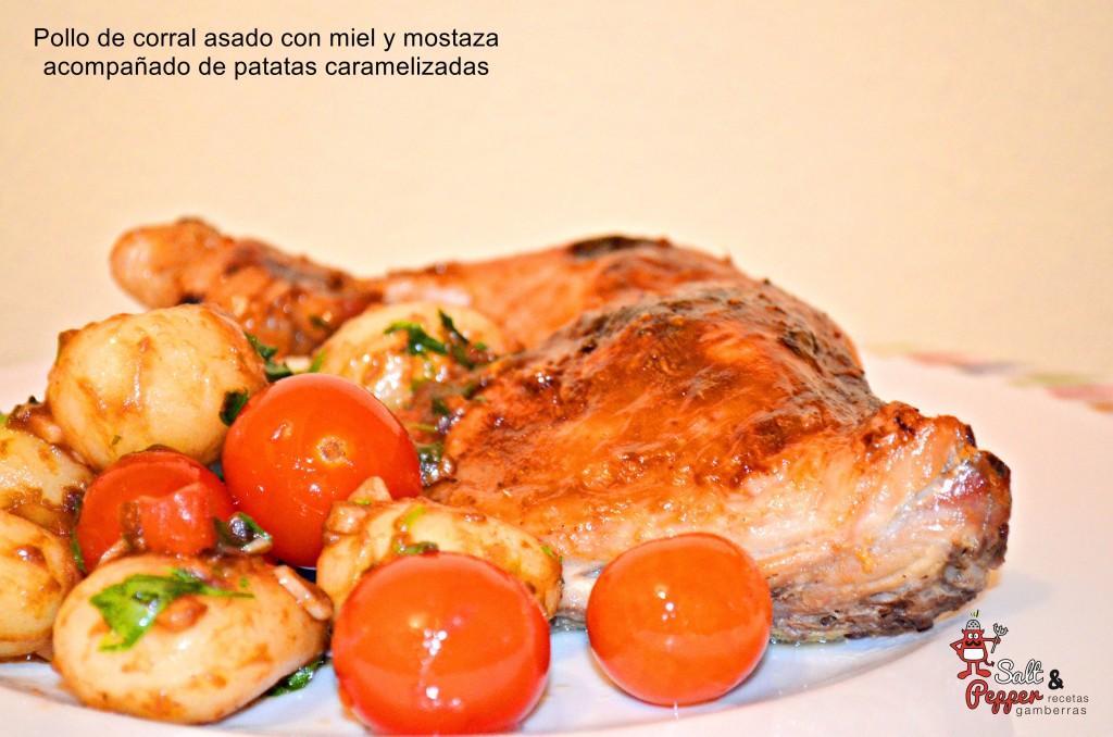 pollo_asado_miel_mostaza_patatas_caramelizadas_2