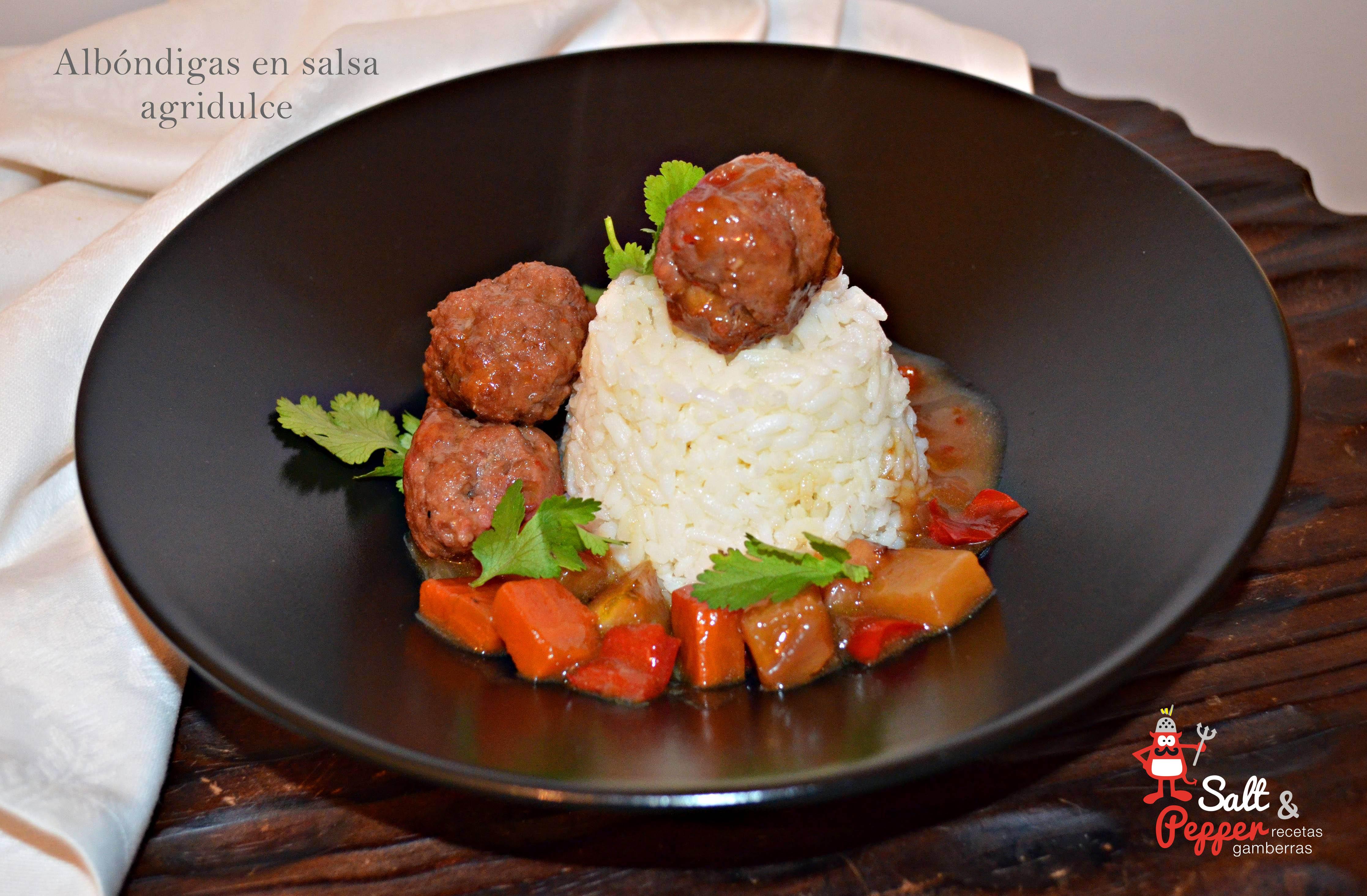 Alb ndigas en salsa agridulce salt pepper - Albondigas tradicionales ...