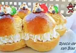 Receta de Rosco de san Blas de masa de brioche y nata montada
