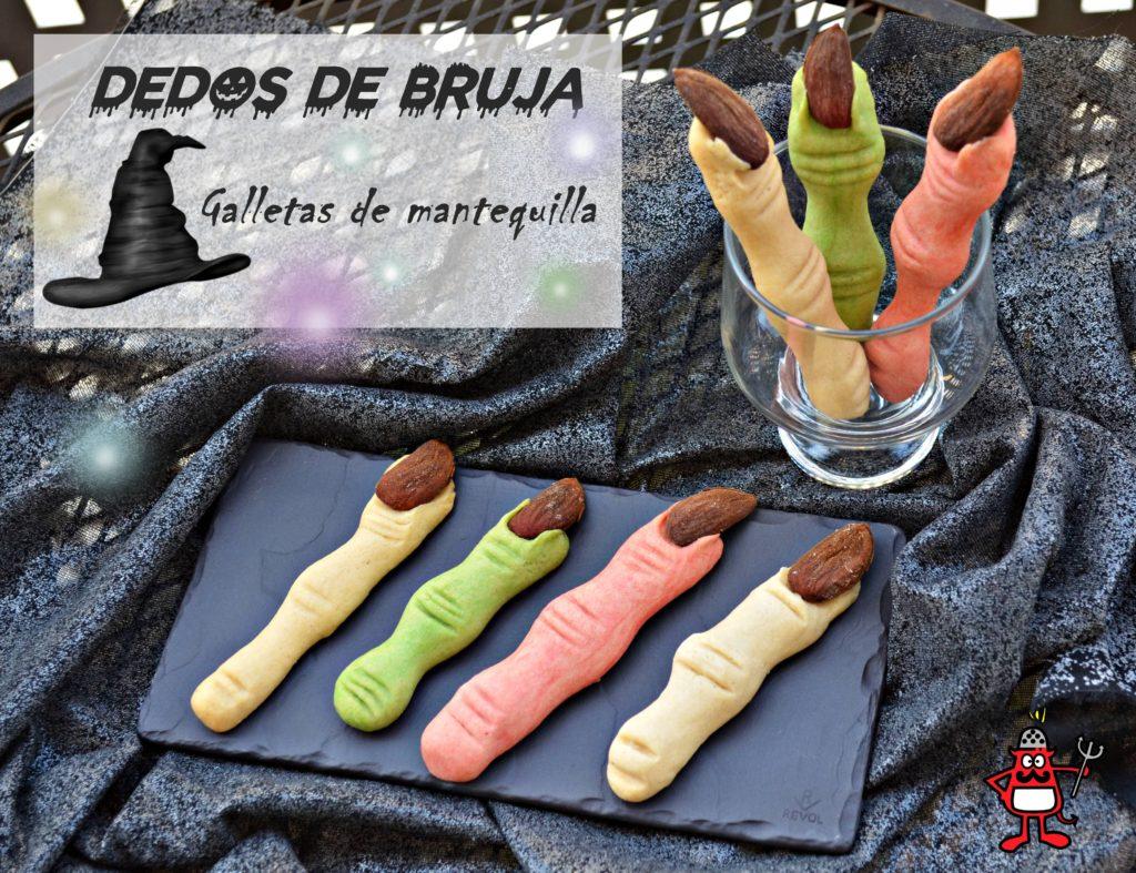Galletas de mantequilla en forma de dedo de bruja.