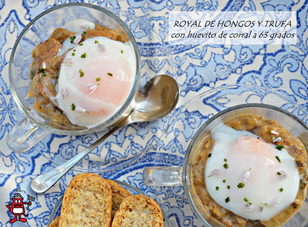 Royal de hongos y trufa con huevo a 63 grados