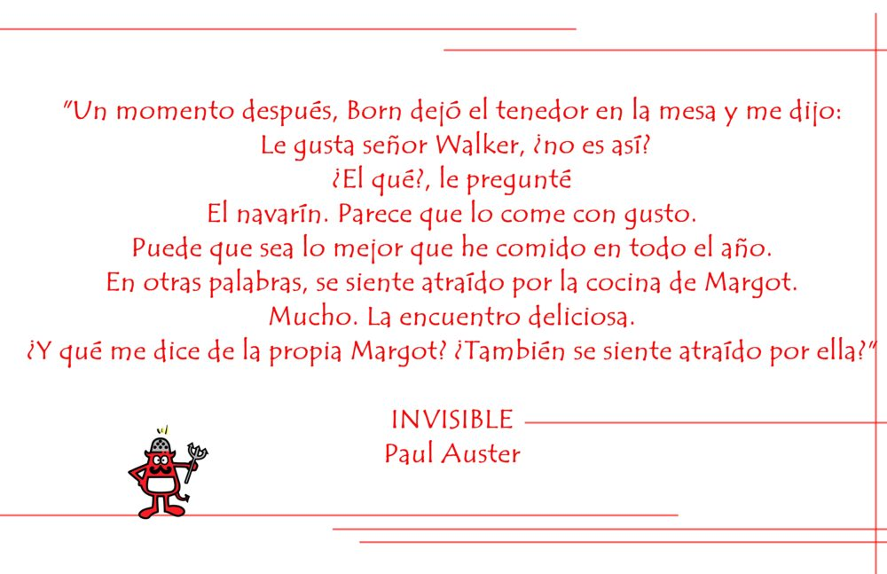Texto del libro Invisible de Paul Auster