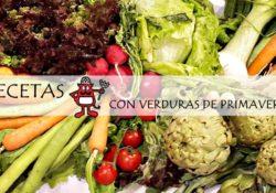 Bodegón de verduras de primavera.