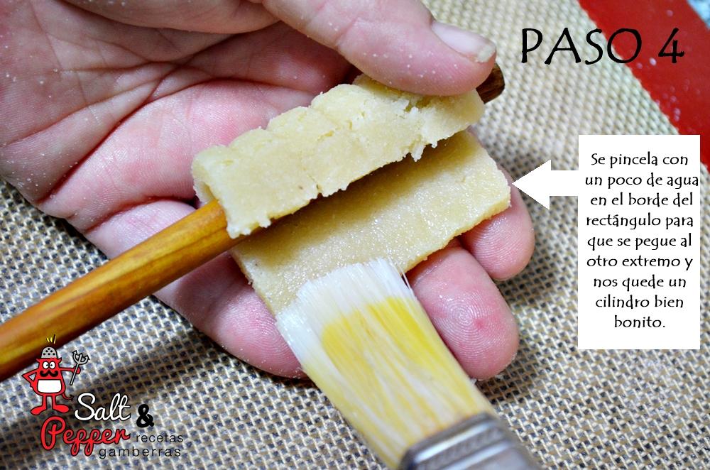 Elaboración paso a paso de los tradicionales huesos de santo rellenos de pistacho.