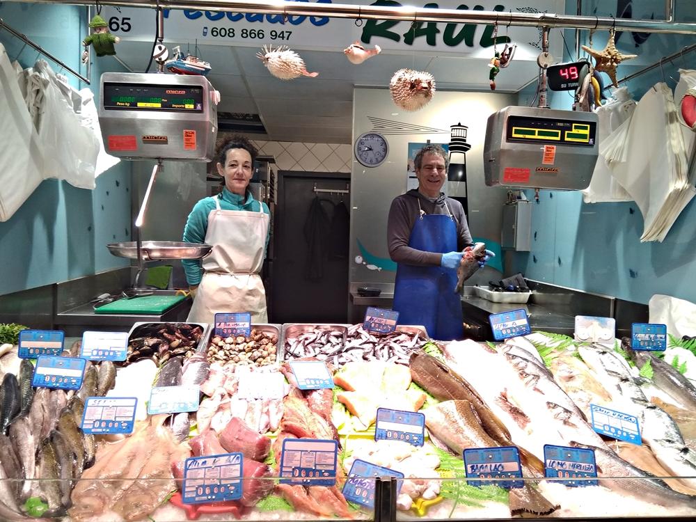 Pescadería Raúl del Mercado de santo Domingo