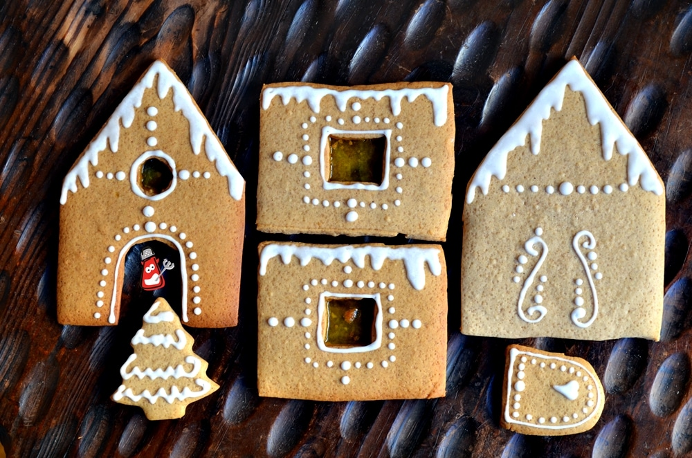 piezas de casita de jengibre