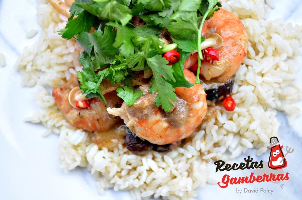 Curry rojo thai de gambas