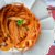 Pasta con impresionante salsa picante de gambas